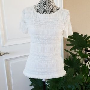 NWT White House Black Market lace top